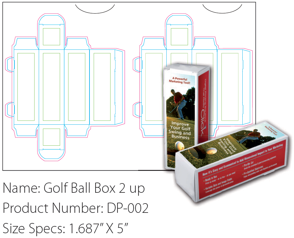 Personalized Packaging Golf Ball Box