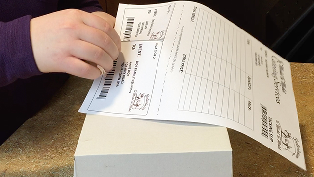 Integrated Label Forms - Packing Slip