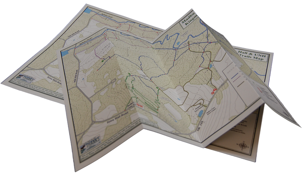 Map on TriDura durable paper