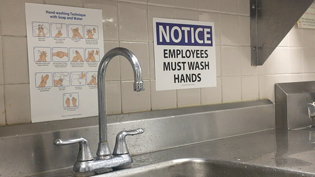 Hand Washing Sign printed on REVLAR Select